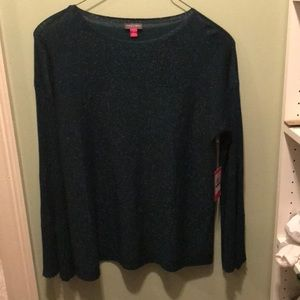 NWT. Vince Cavuto sweater with metallic threading